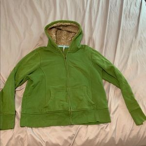 Warm winter jacket in green!